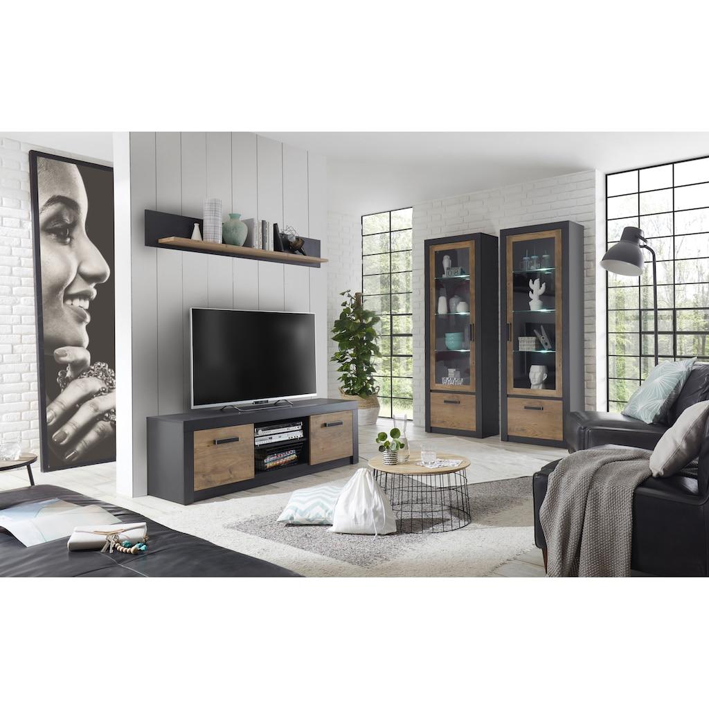 my home Wohnwand »Brügge«, (Set, 4 St.), Mit einer dekorativen Rahmenoptik