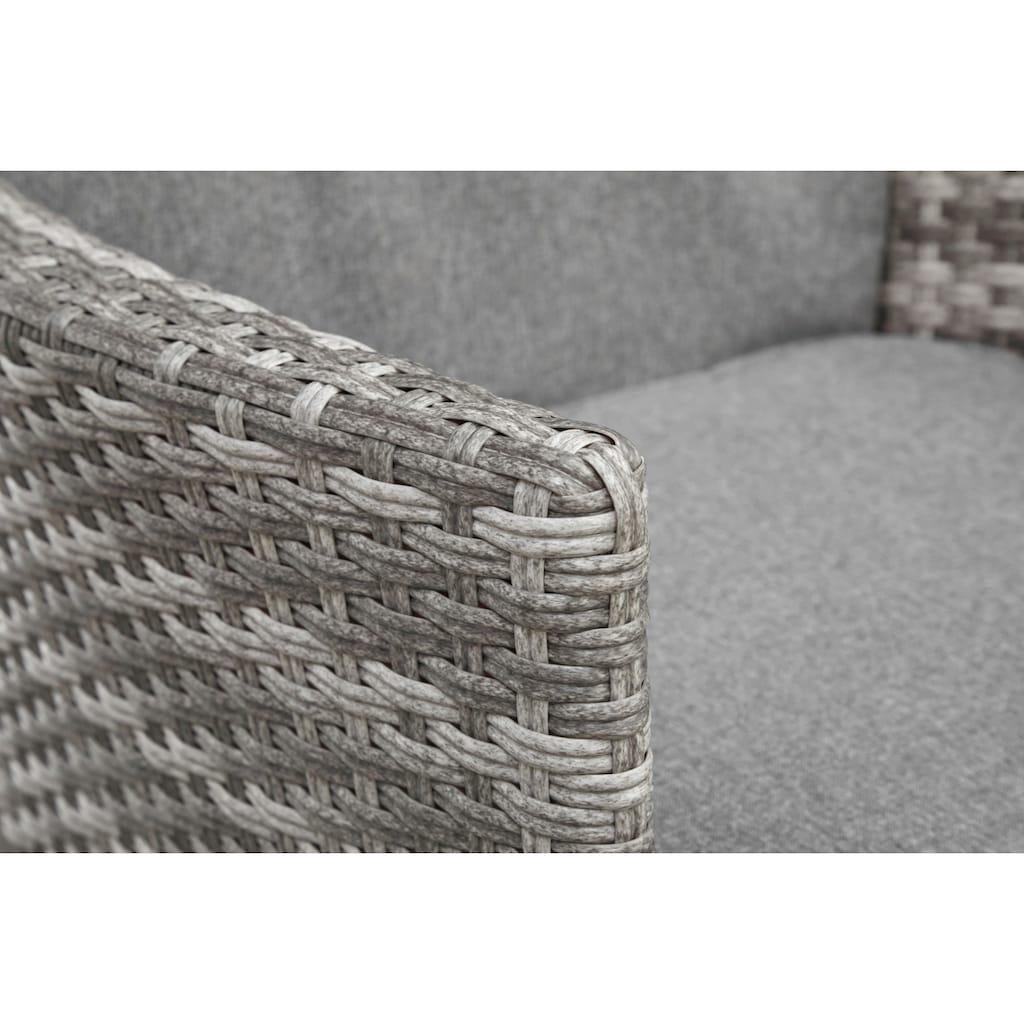 KONIFERA Gartenmöbelset »Belluno«, (5 tlg.), 2 Sessel, Tisch Ø 50 cm, Polyrattan
