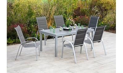 MERXX Gartenmöbelset »Amalfi di lusso«, (8 tlg.), 7 Stapelsessel, Hochlehner mit... kaufen