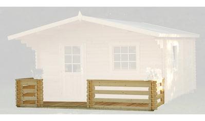 WOLFF FINNHAUS Terrasse für Gartenhaus, BxT: 390x200 cm, 70 mm kaufen