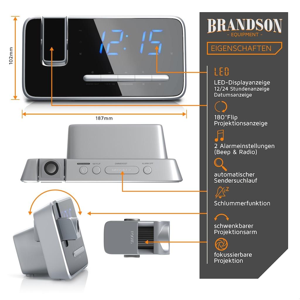 Brandson FM Radiowecker mit 180° Flip-Projektionsanzeige
