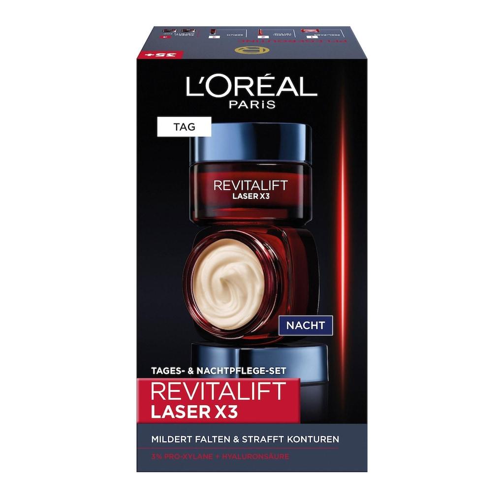 L'ORÉAL PARIS Gesichtspflege-Set »RevitaLift Laser X3 Tag und Nacht«, (2 tlg.)