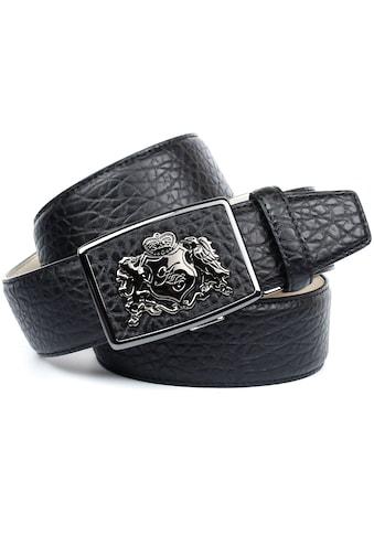 Anthoni Crown Ledergürtel, mit Wappen kaufen