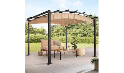 KONIFERA Pavillon »Athen«, BxT: 300x300 cm, ausziehbarer Sonnenschutz Cover kaufen