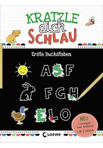 Buch »Kratzle dich schlau - Erste Buchstaben / Loewe Kratzel-Welt, Corina Beurenmeister« kaufen