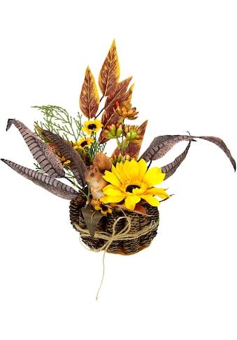 I.GE.A. Kunstpflanze »Sonnenblumen-Arrangement«, Im Zapfen-Topf kaufen