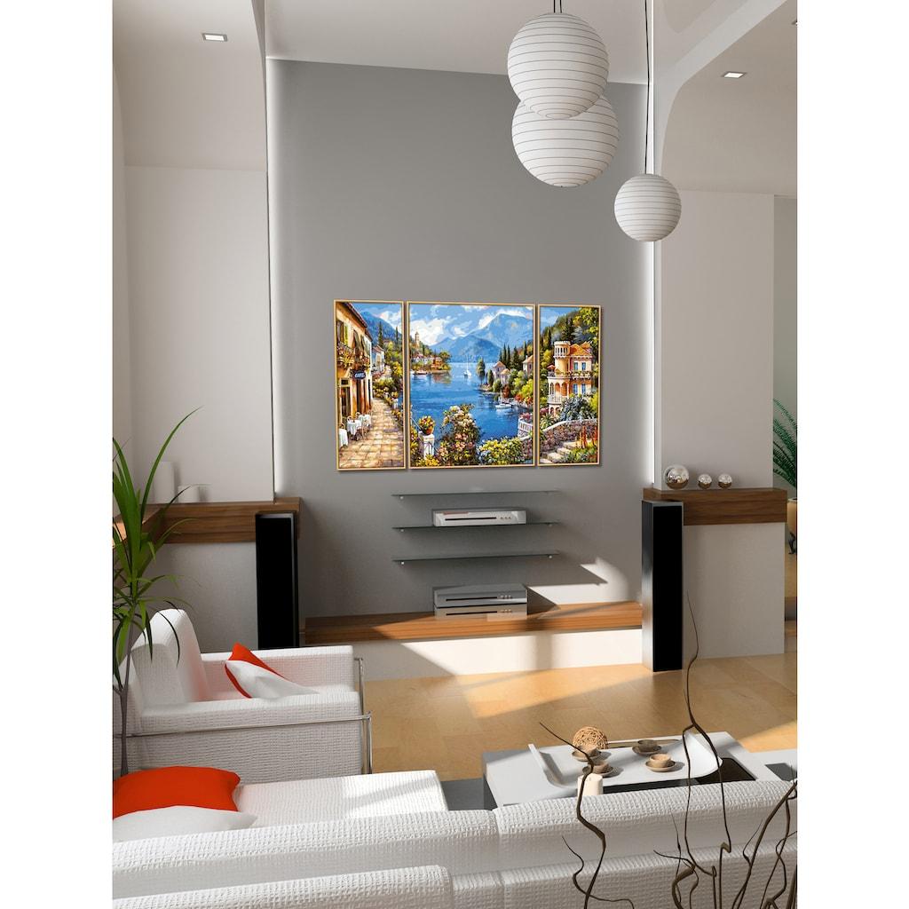 Schipper Malen nach Zahlen »Meisterklasse Triptychon - Lago Romantico«, Made in Germany