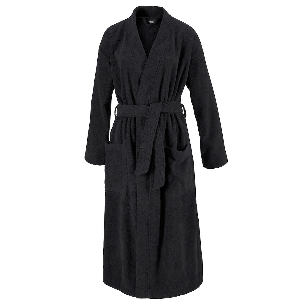 Egeria Unisex-Bademantel »Topas«, (1 St.), in Kimonoform