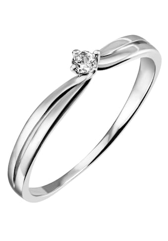 Firetti Diamantring »Solitär, gedrehte Optik, Krappenfassung, Glanz, massiv«, mit... kaufen