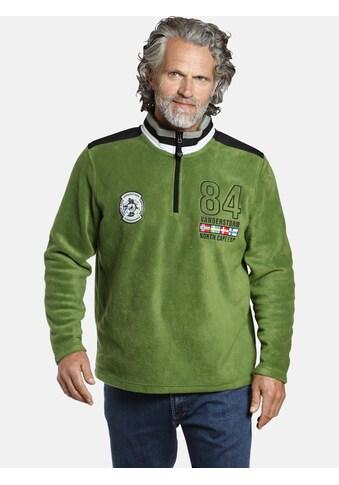 Jan Vanderstorm Fleecepullover »TOMAS«, antistatisches Polarfleece kaufen