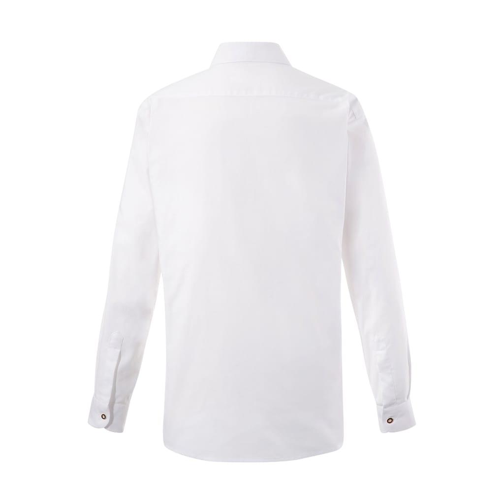 OS-Trachten Trachtenhemd, dezente Trachten-Applikationen