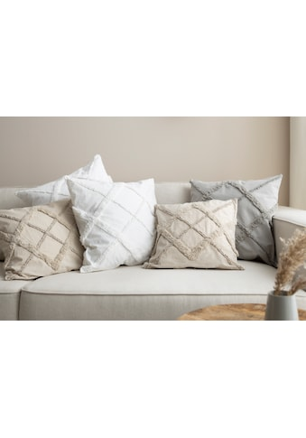 OTTO products Kissenhüllen »Monnia«, (2 St.), mit 3D Muster kaufen