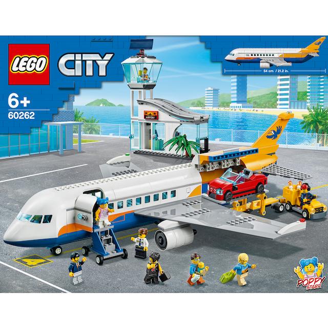 "LEGO® Konstruktionsspielsteine ""Passagierflugzeug (60262), LEGO® City"", Kunststoff, (669-tlg.)"