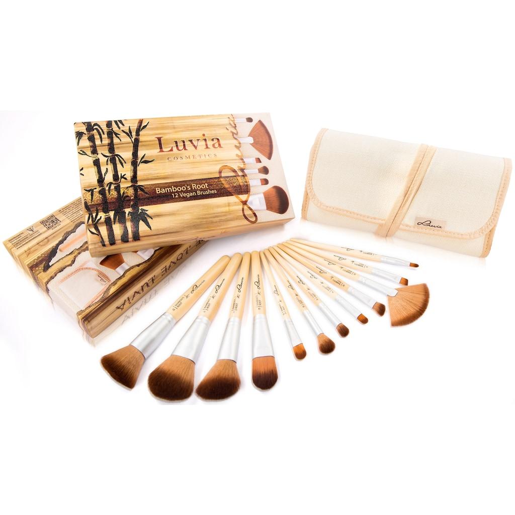 Luvia Cosmetics Kosmetikpinsel-Set »Bamboo's Root«, (12 tlg., zzgl. Aufbewahrungstasche), vegan