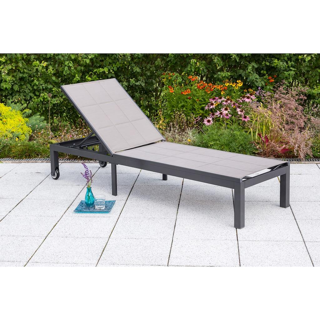MERXX Gartenliege »Trivero«, Alu/Textil, verstellbar