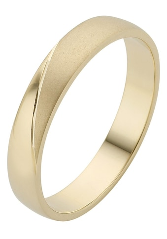 Firetti Trauring mit Gravur »4,0 mm, glanz, matt, Diamantschnitt, Gelbgold« kaufen
