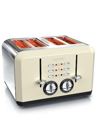 Arendo Toaster im Edelstahlgehäuse für 4 Scheiben »BREAKFAST X2 beige« kaufen