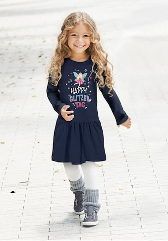 KIDSWORLD Jerseykleid »HAPPY GLITZER TAG«, mit glitzerndem Print kaufen