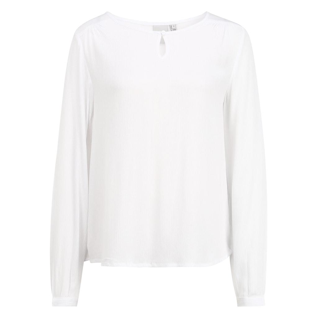 Ichi Langarmbluse »IHMARRAKECH LS«, Blusenshirt mit Rundhalsausschnitt