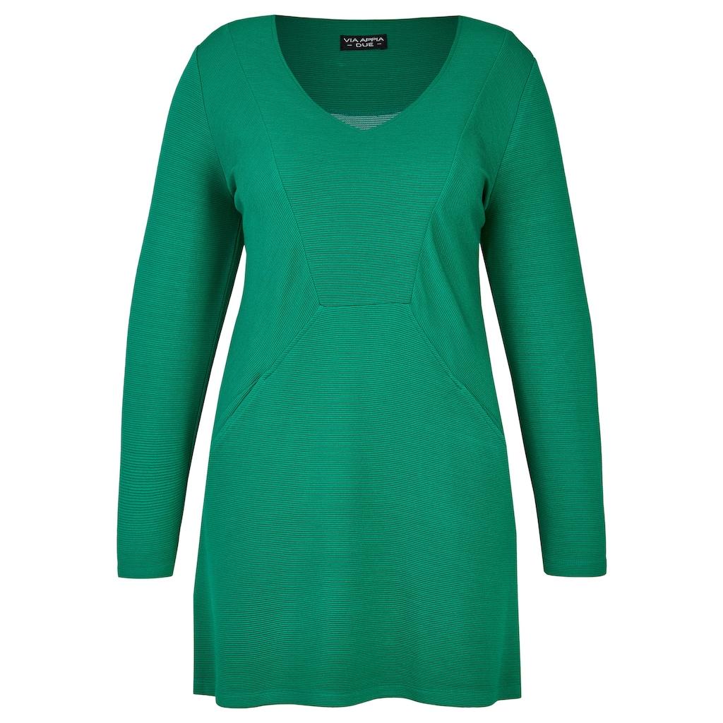 VIA APPIA DUE Elegantes Long-Sweatshirt mit Ziernähten Plus Size