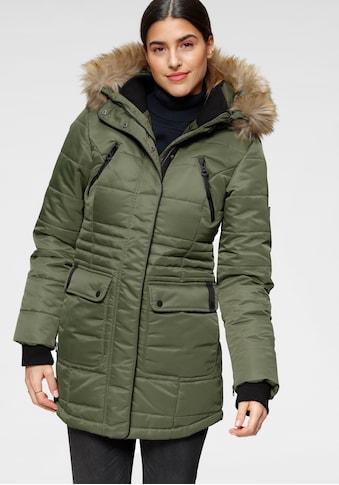 ALPENBLITZ Steppjacke »Schneeglanz«, edle Winterjacke mit Rippenstehkragen und... kaufen