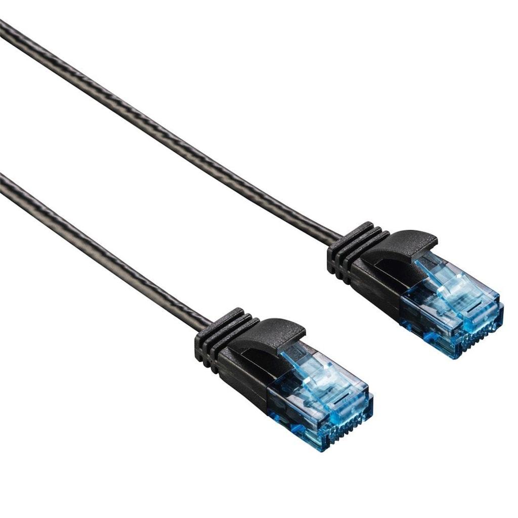 Hama CAT-6-Netzwerkkabel Slim-Flexible, Schwarz, 1,50 m
