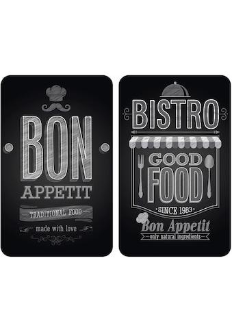 WENKO Herd-Abdeckplatte »Bon Appetit«, (Set, 2 tlg.), rutschfesten Spezialfüße kaufen