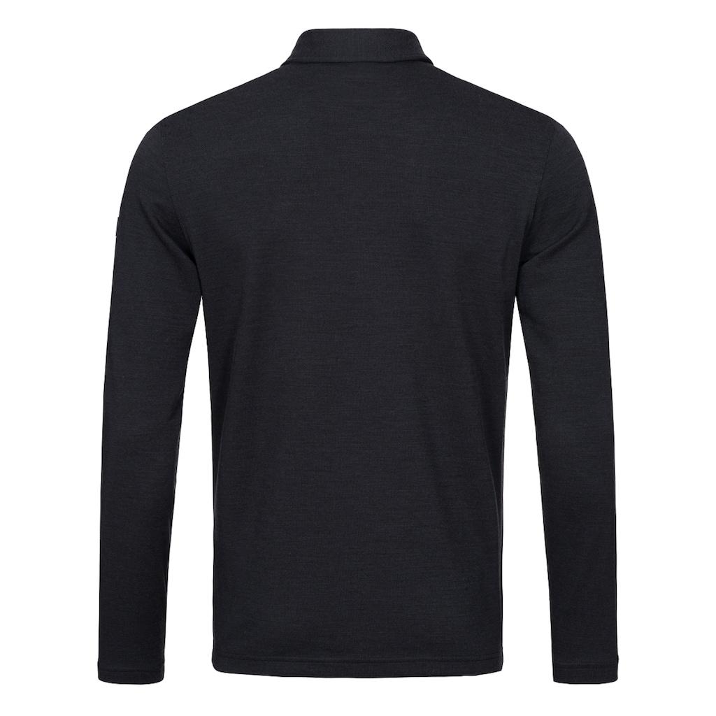 SUPER.NATURAL Poloshirt »M WAYFARER LS POLO«, feinster Merino-Materialmix