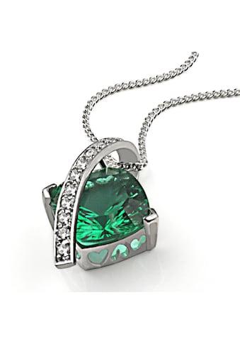 goldmaid Collier, Silber 925 Milleniumcut smaragdgrüner Zirkonia kaufen