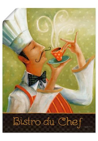 Artland Wandbild »Cafe Moustache I«, Getränke, (1 St.), in vielen Größen &... kaufen