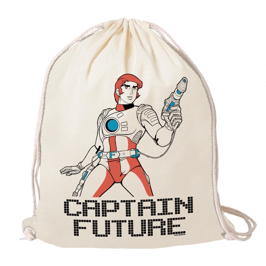 LOGOSHIRT Turnbeutel, mit Wizard Of Science Captain Future-Print