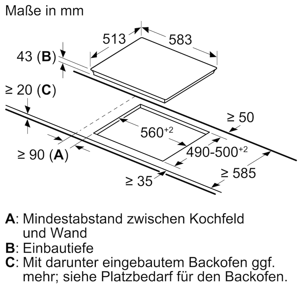 BOSCH Elektro-Herd-Set »HND231AS61«, HEF133BS1, ecoClean Direct