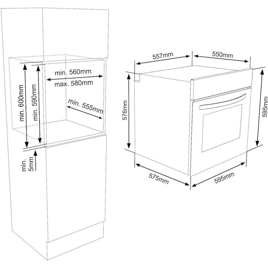 VESTEL Elektro-Herd-Set »VEH11026-1 + VEK21016«