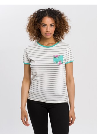 Cross Jeans® T-Shirt »55778«, Filigrane Kontraststreifen kaufen