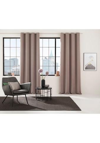 Verdunkelungsvorhang, »Lulea«, my home Selection, Ösen 1 Stück kaufen