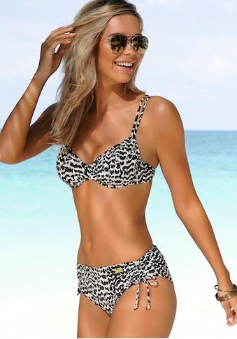 LASCANA Bügel-Bikini-Top »Clara«, mit Doppelträgern und Print kaufen