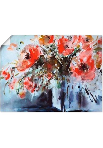 Artland Wandbild »Mohn in Vase«, Blumen, (1 St.), in vielen Größen & Produktarten -... kaufen