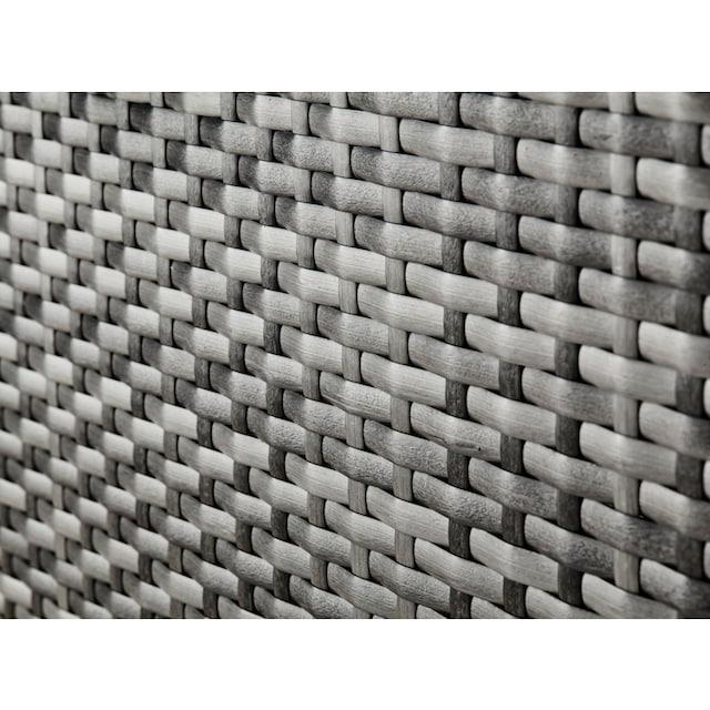 KONIFERA Loungebett »Atlanta«, Polyrattan, grau, inkl. Auflagen