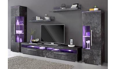 TRENDMANUFAKTUR Wohnwand »India« (Set, 5 - tlg) kaufen