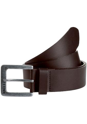TOM TAILOR Denim Ledergürtel, mit Label Prägung auf der Schnalle kaufen