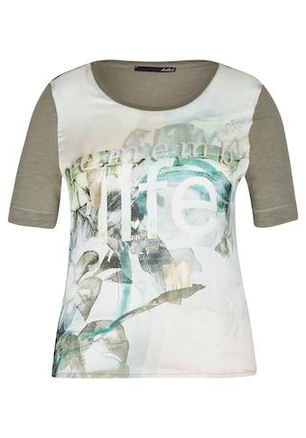 LeComte Print-Shirt, mit meliertem Stoff und modischem Front-Print kaufen
