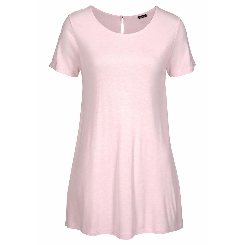 LASCANA T-Shirt, mit verlängertem Rückenteil