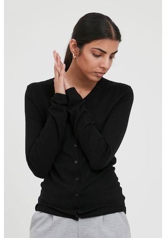 Ichi Cardigan »IHMAFA ROUND CA 103115«, Basic Cardigan mit Knopfleiste kaufen
