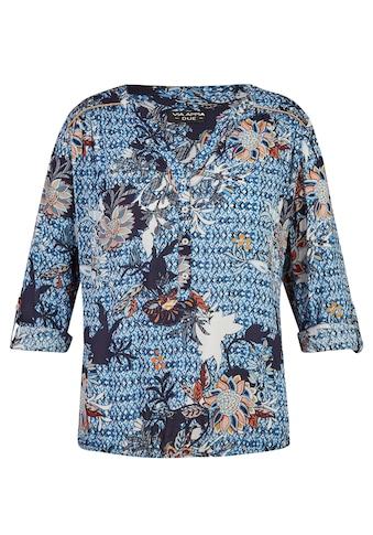VIA APPIA DUE Leichte Bluse mit Allover-Print Plus Size kaufen