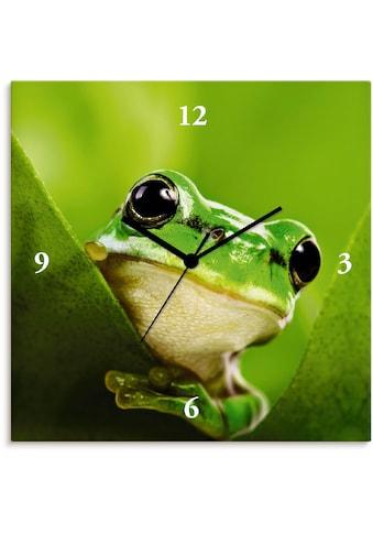 Artland Wanduhr »Ausspähender Frosch«, lautlos, ohne Tickgeräusche, nicht tickend,... kaufen