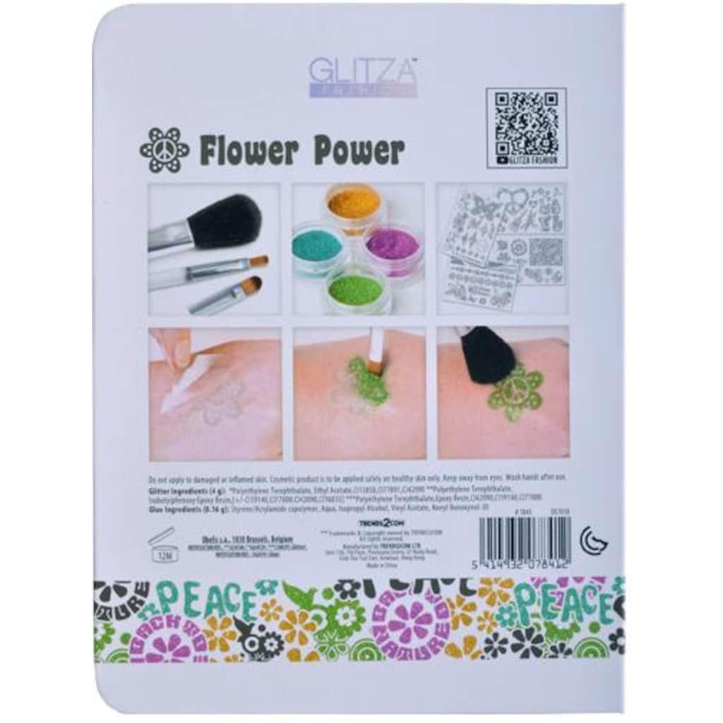 Knorrtoys® Kreativset »GLITZA FASHION Deluxe Set Flower Power«, (Set), Für alle Oberflächen geeignet