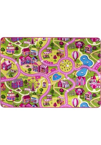 Andiamo Kinderteppich »Sweet Village«, rechteckig, 7 mm Höhe, Straßen-Spielteppich,... kaufen