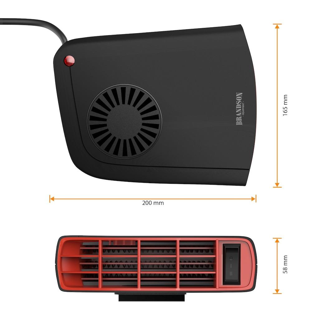 Brandson Turbo Komfort KFZ Innenraumheizung mit 2 Heizstufen