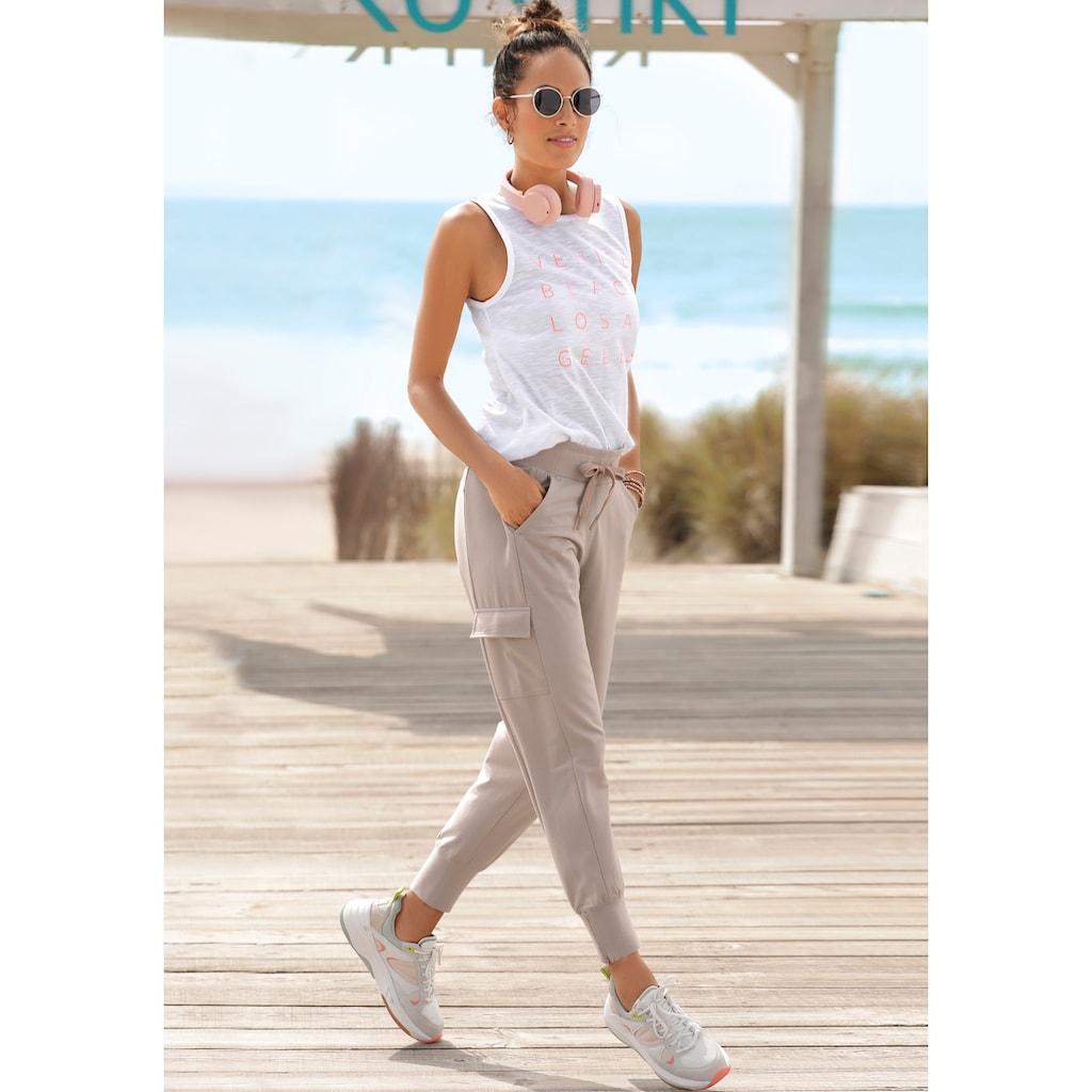Venice Beach Jogginghose, mit seitlichen Taschen am Bein