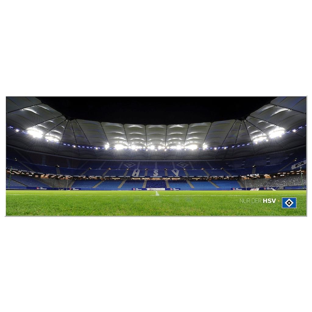 Wall-Art Wandbild »HSV Arena Nacht - Panorama«, 100/40 cm